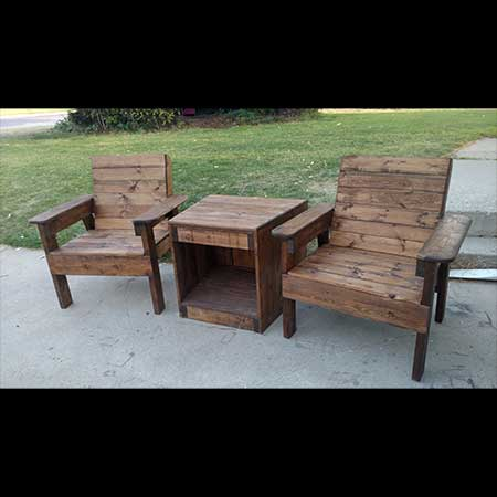 Knotty Pine Woodworks Outdoor Furniture